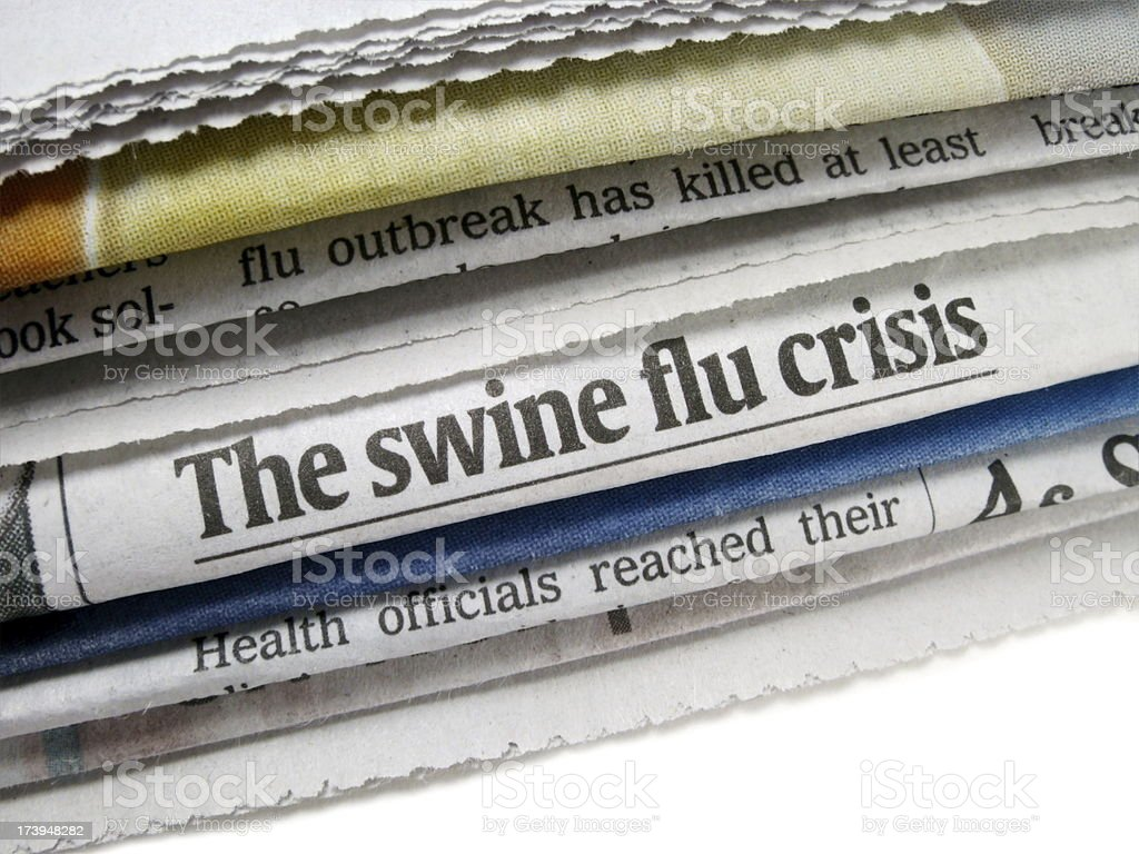 Swine Flu Crisis royalty-free stock photo