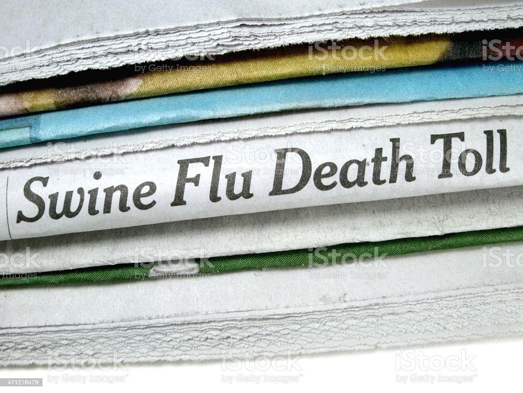 Swine Flu Death Toll stock photo