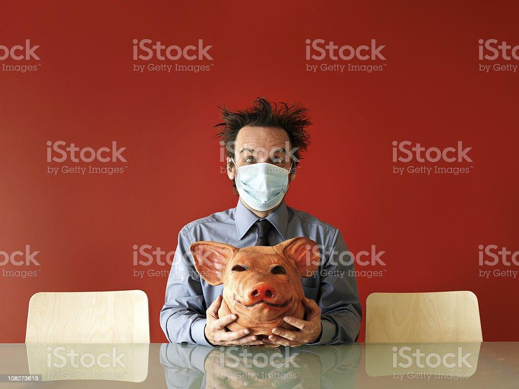 Swine flu fear royalty-free stock photo