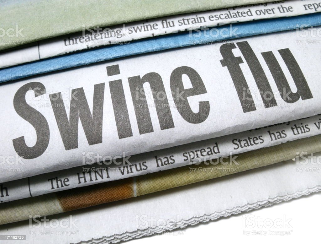 Swine Flu H1N1 Virus royalty-free stock photo