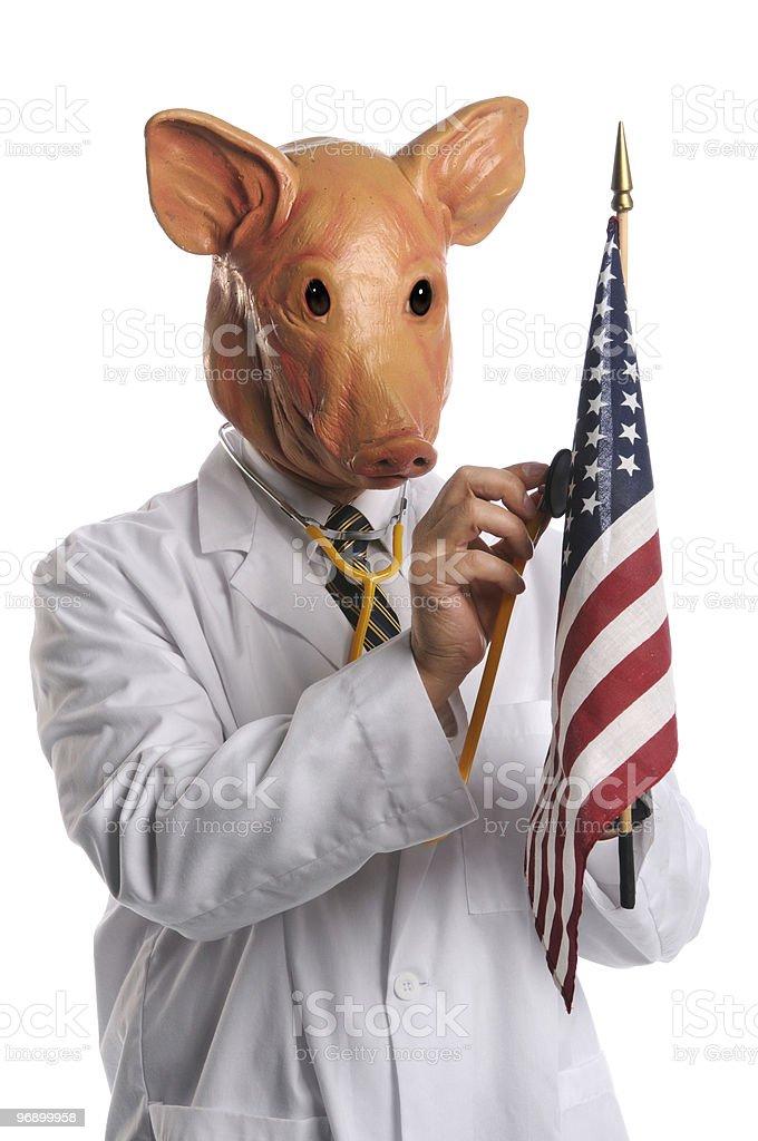 Swine Flu in America Concept royalty-free stock photo