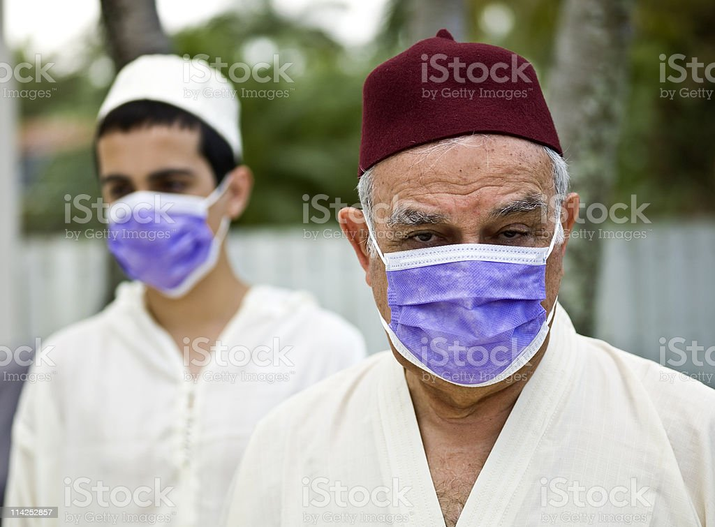 Swine flu in middle east stock photo