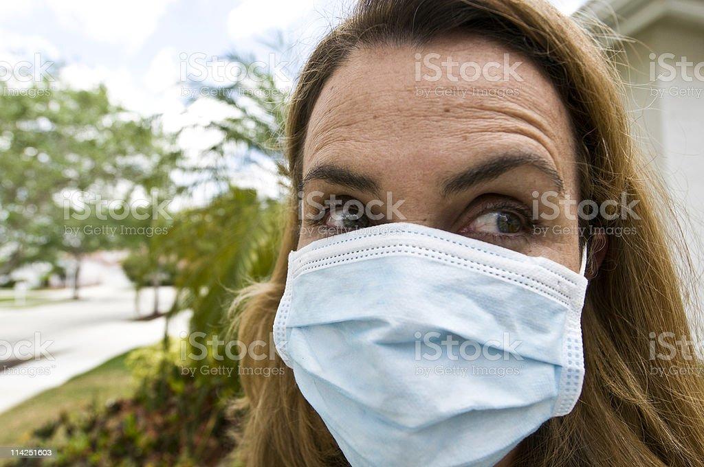 Swine flu madness royalty-free stock photo