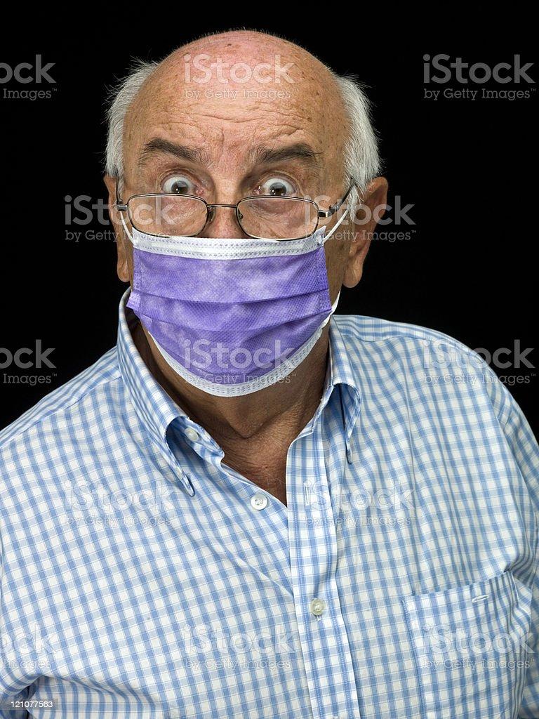 swine flu madness stock photo