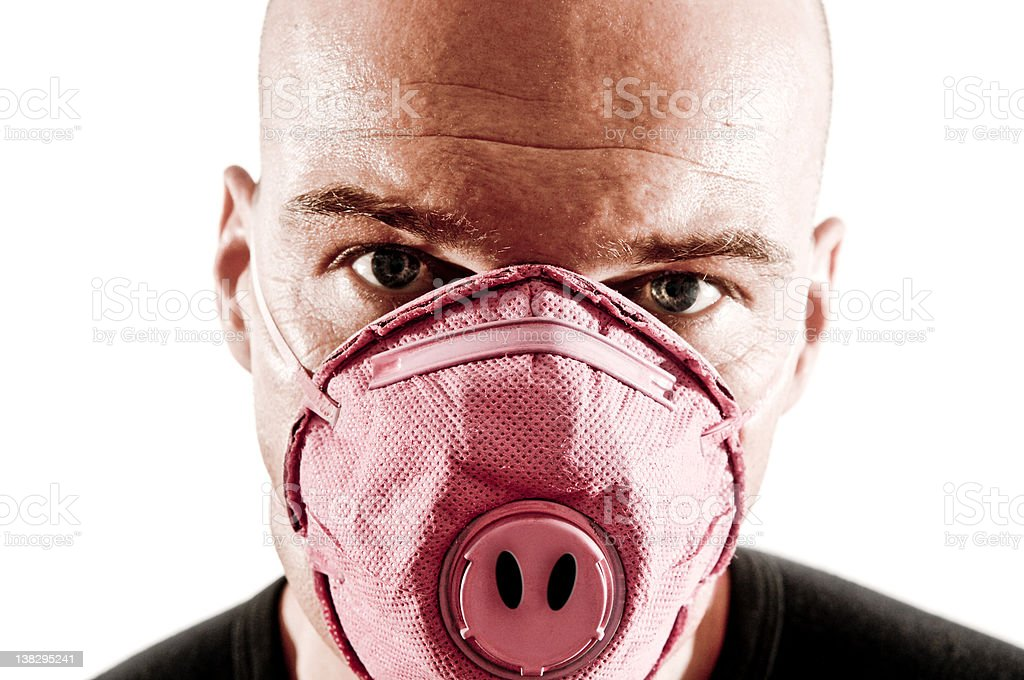 Swine Flu Mask stock photo