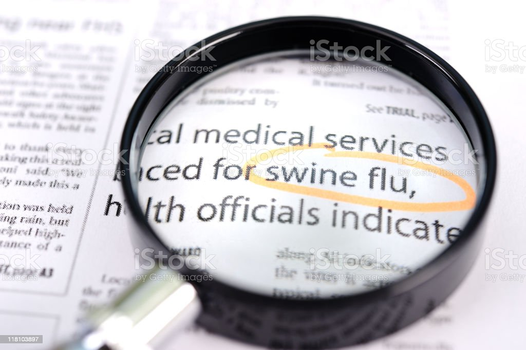 Swine flu news royalty-free stock photo