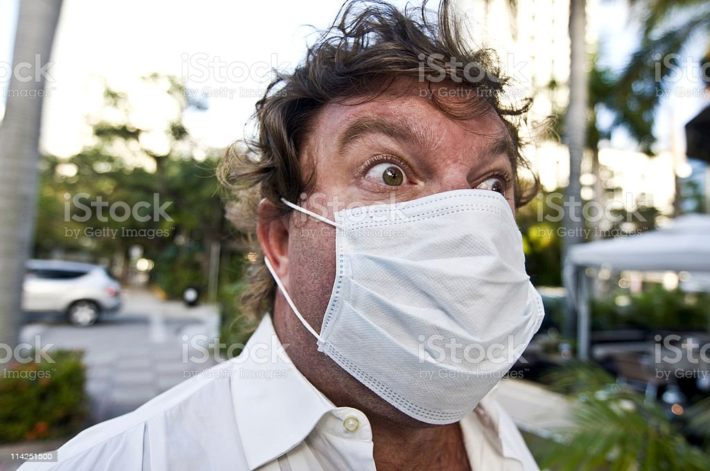 Swine flu paranoia stock photo