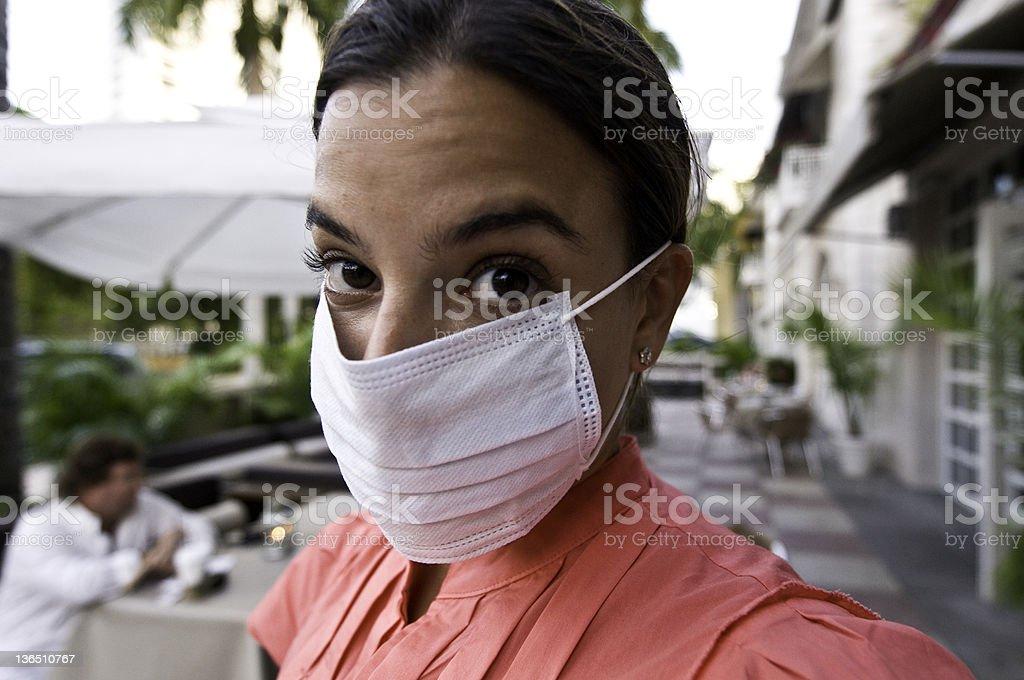 Swine Flu paranoia stock photo