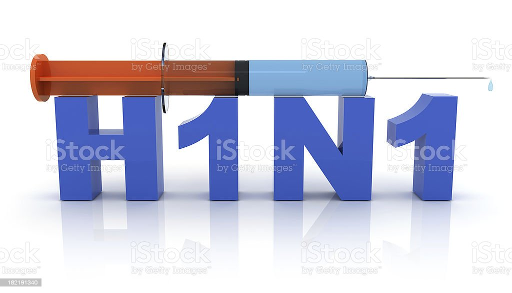 H1N1 Swine Flu royalty-free stock photo