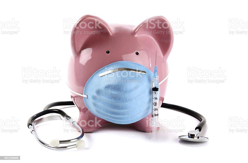 Swine Flu Pig Vaccine Concept stock photo