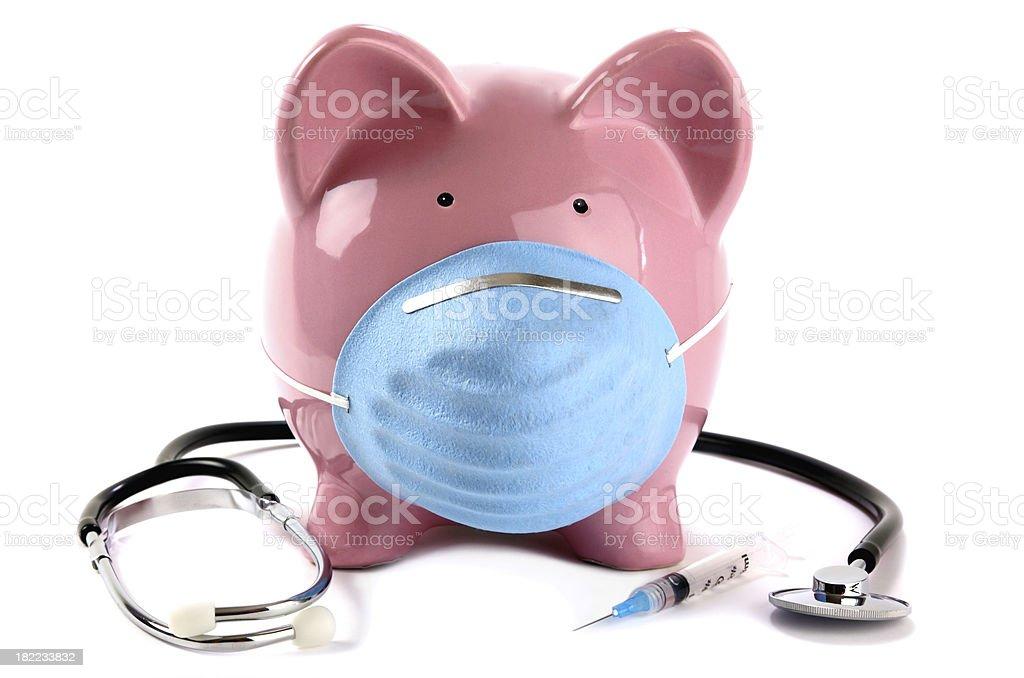 Swine Flu Pig Vaccine stock photo