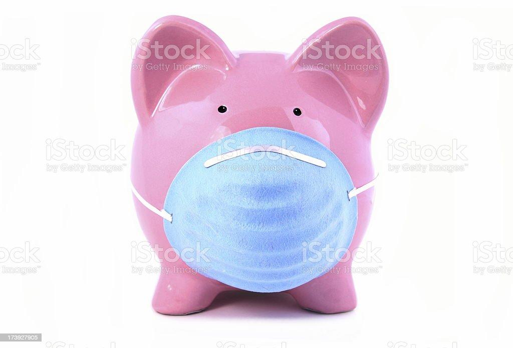 Swine Flu Piggy Concept royalty-free stock photo