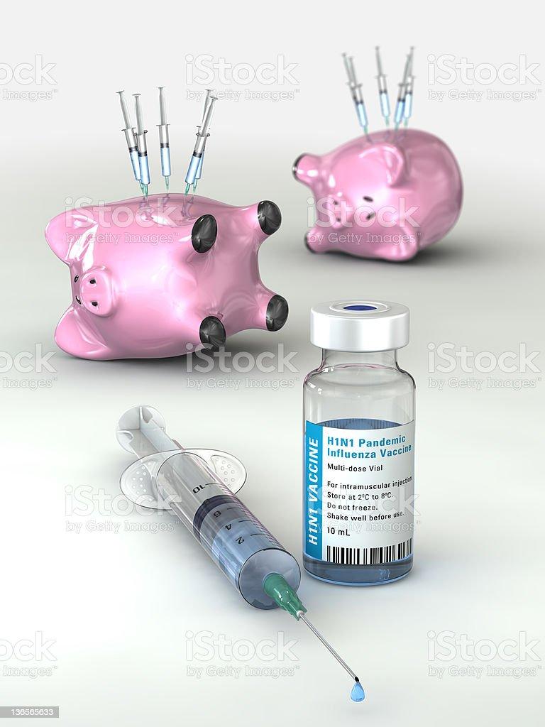 Swine Flu Vaccine stock photo