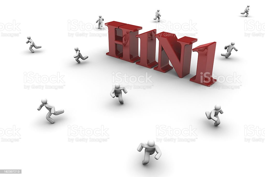 Swine Flu Virus royalty-free stock photo