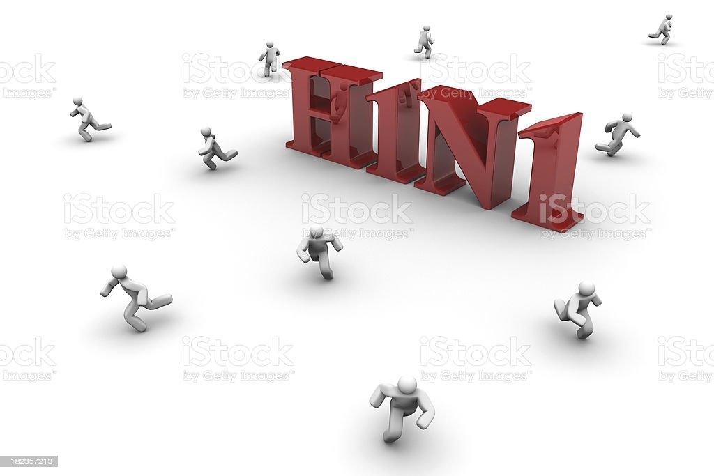Swine Flu Virus stock photo