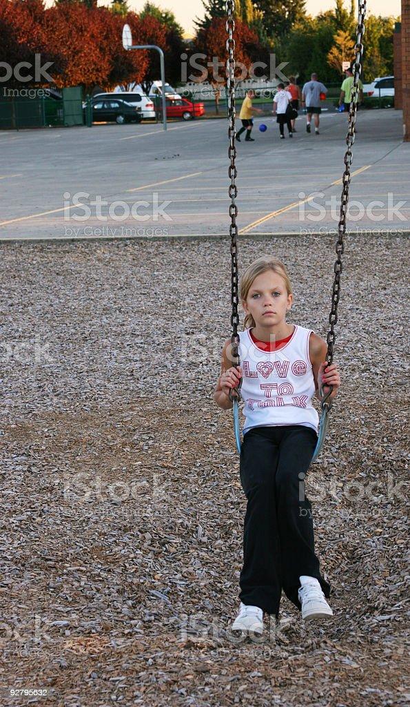 swing alone royalty-free stock photo