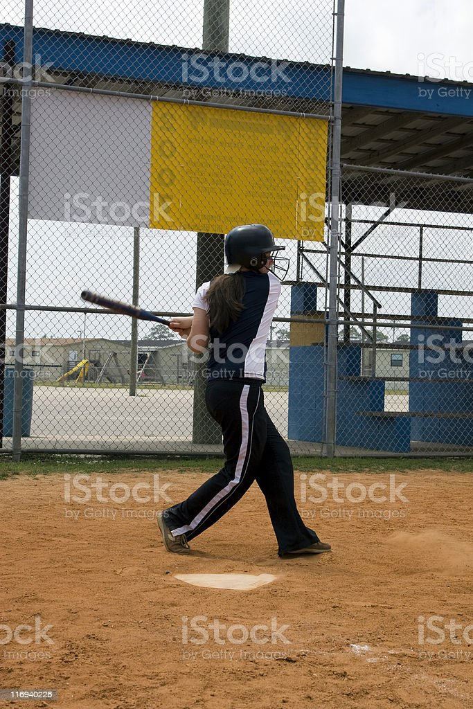 Swing and a miss stock photo