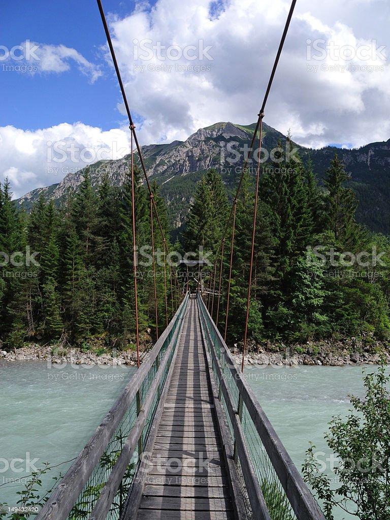 swing bridge stock photo