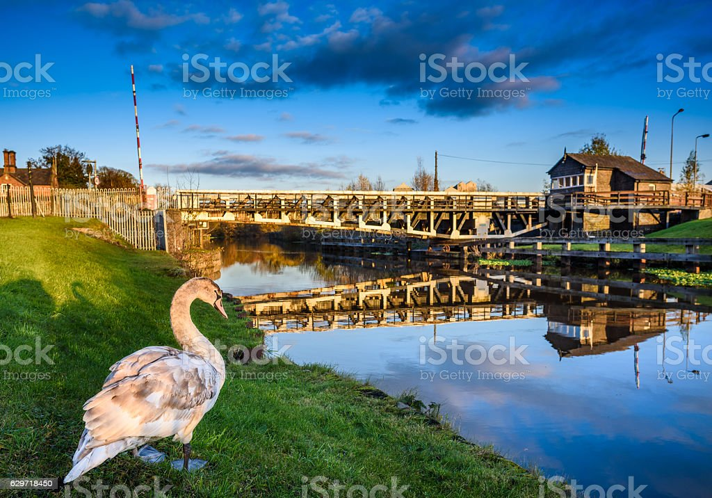 Swing Bridge stock photo