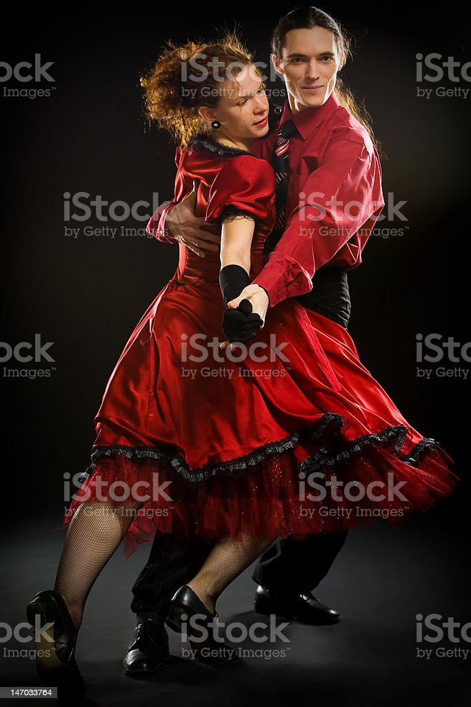 Swing dancers stock photo