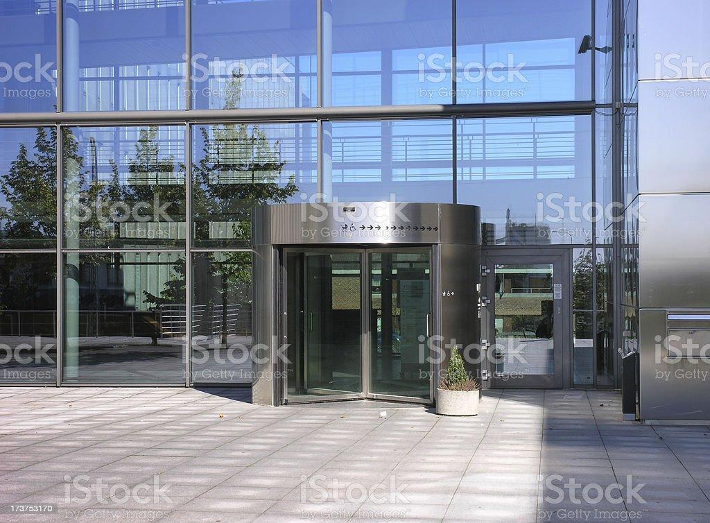 Swing door entrance royalty-free stock photo