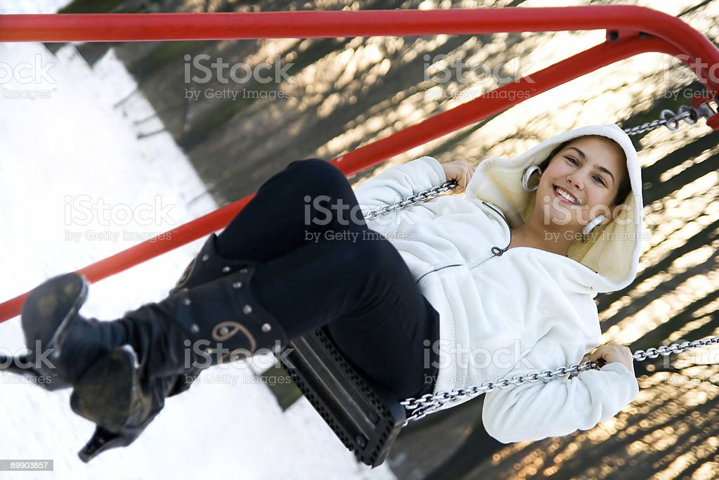 Swing fun stock photo