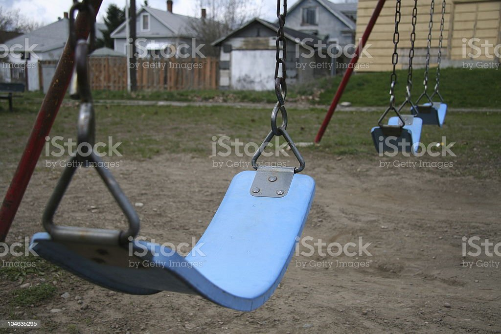 Swing in the ghetto stock photo