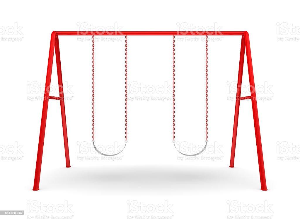 Swing Set on white royalty-free stock photo