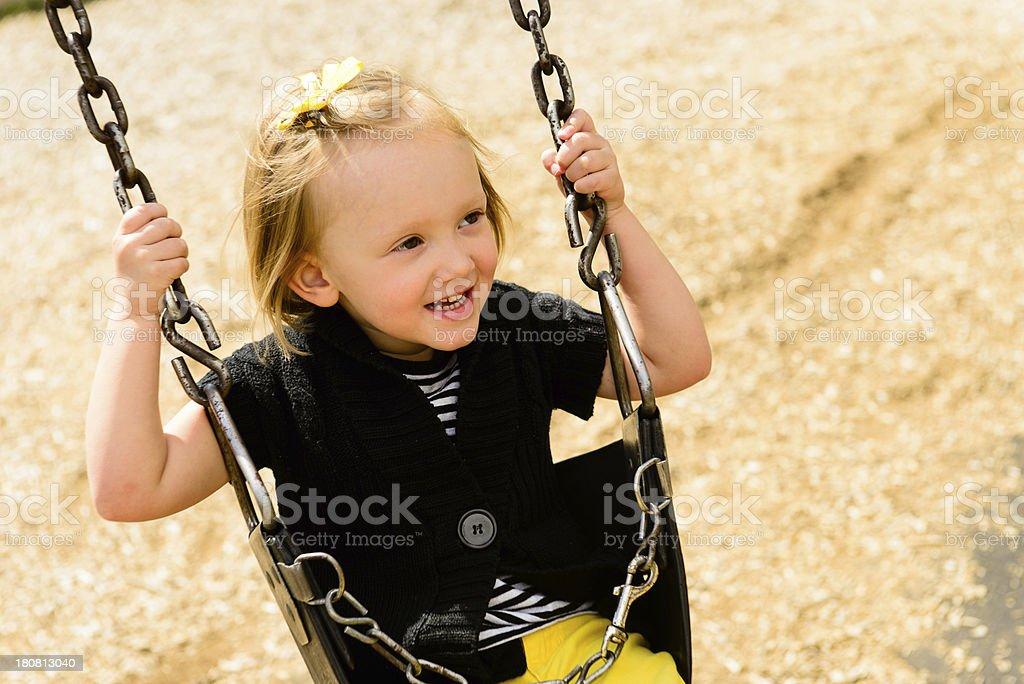Swing Set - Playing royalty-free stock photo