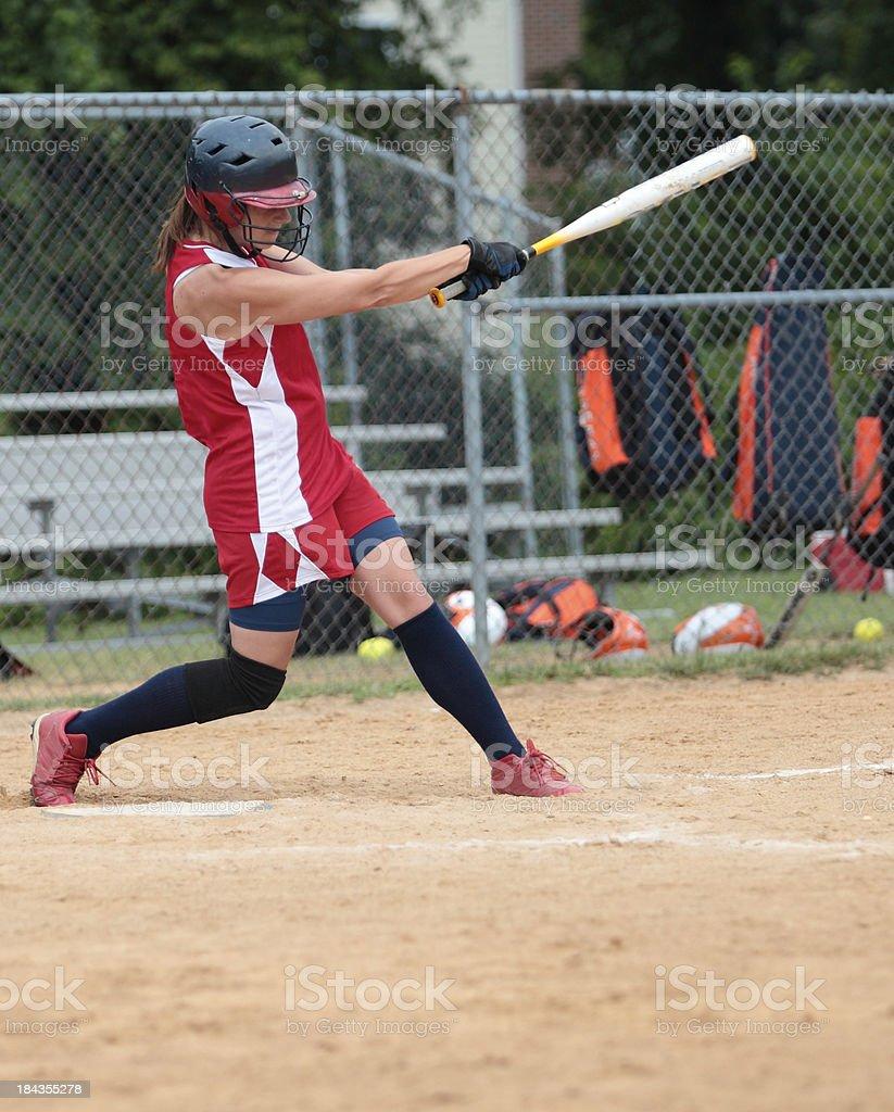 Swinging Batter royalty-free stock photo