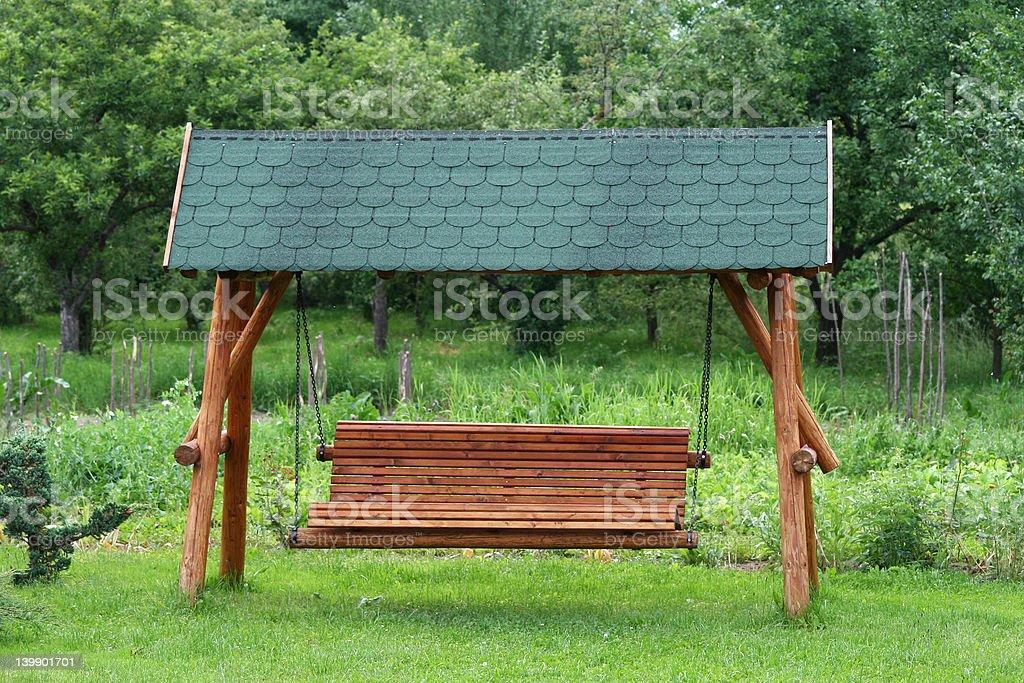 Swinging bench royalty-free stock photo