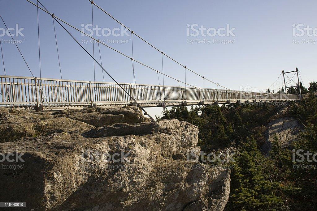 Swinging Bridge royalty-free stock photo
