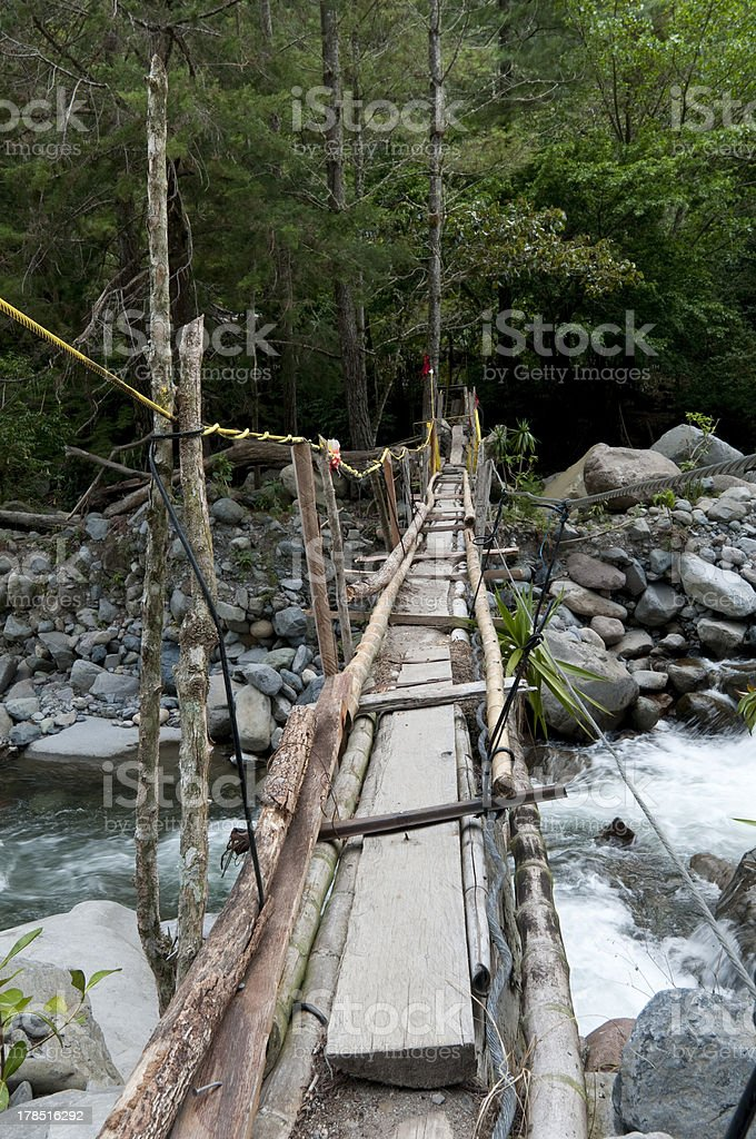 Swinging bridge royalty-free stock photo