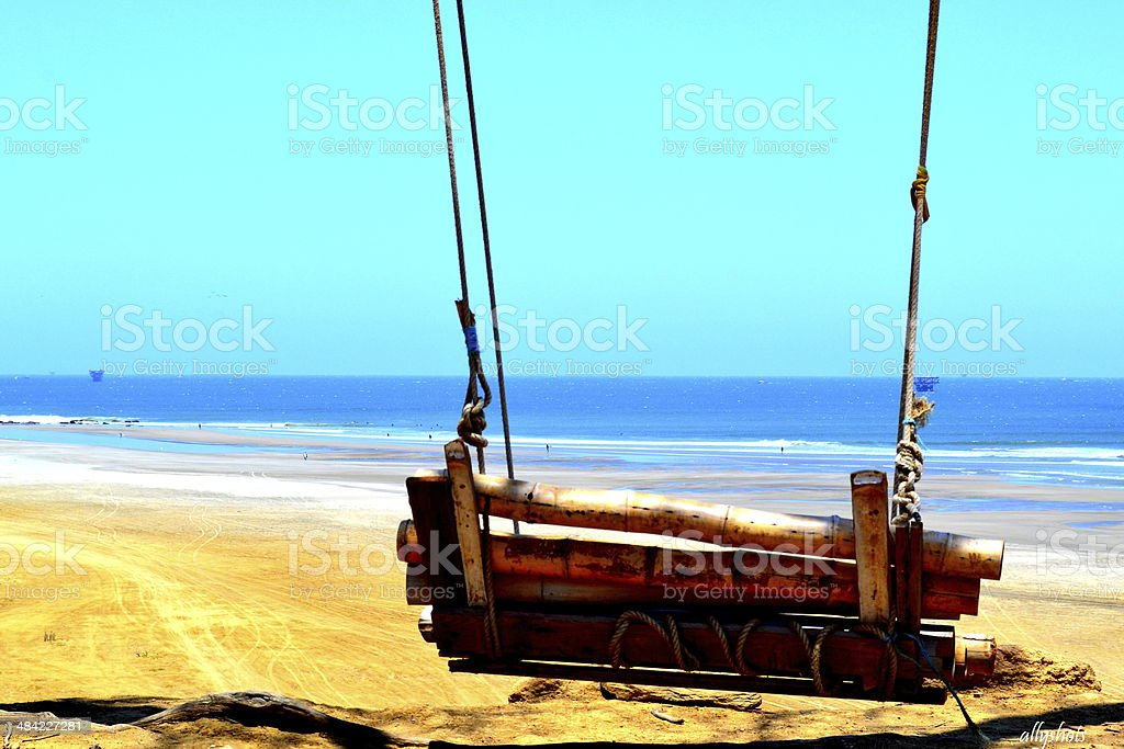 Swinging chair stock photo
