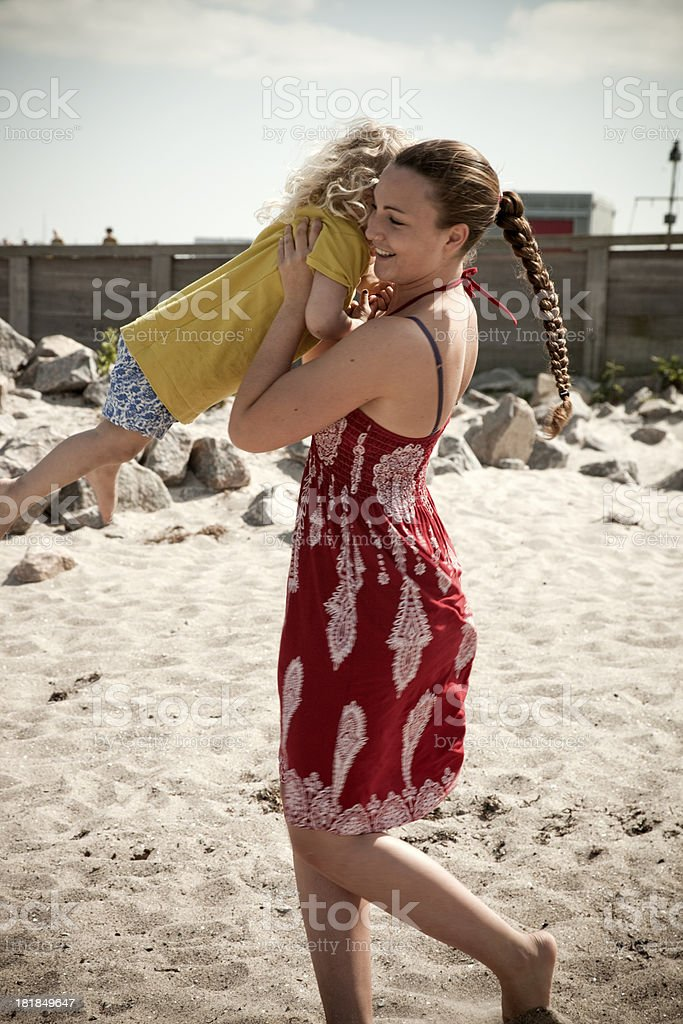 Swinging Girls royalty-free stock photo