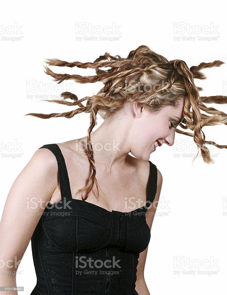 Swinging Hair White stock photo