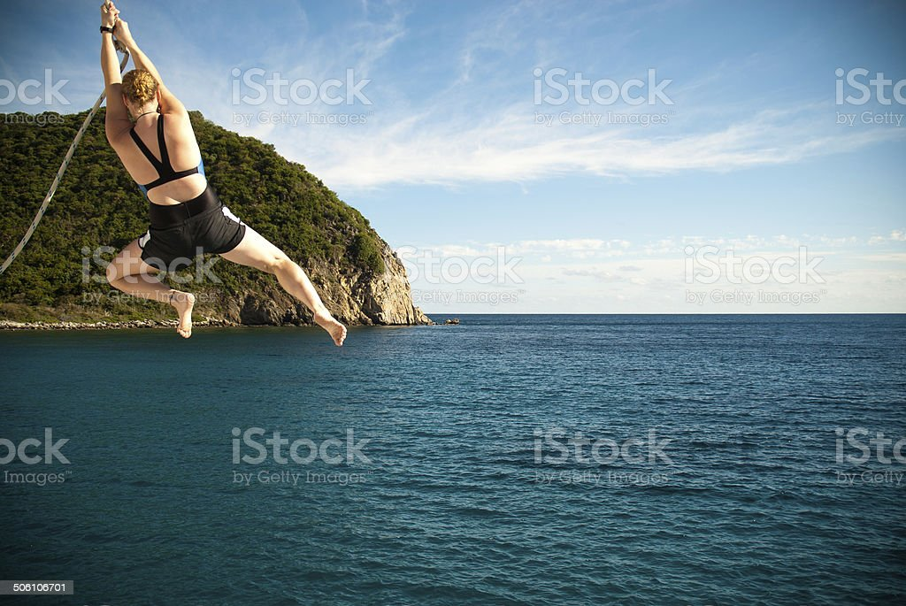 Swinging Off Into The Unknown stock photo