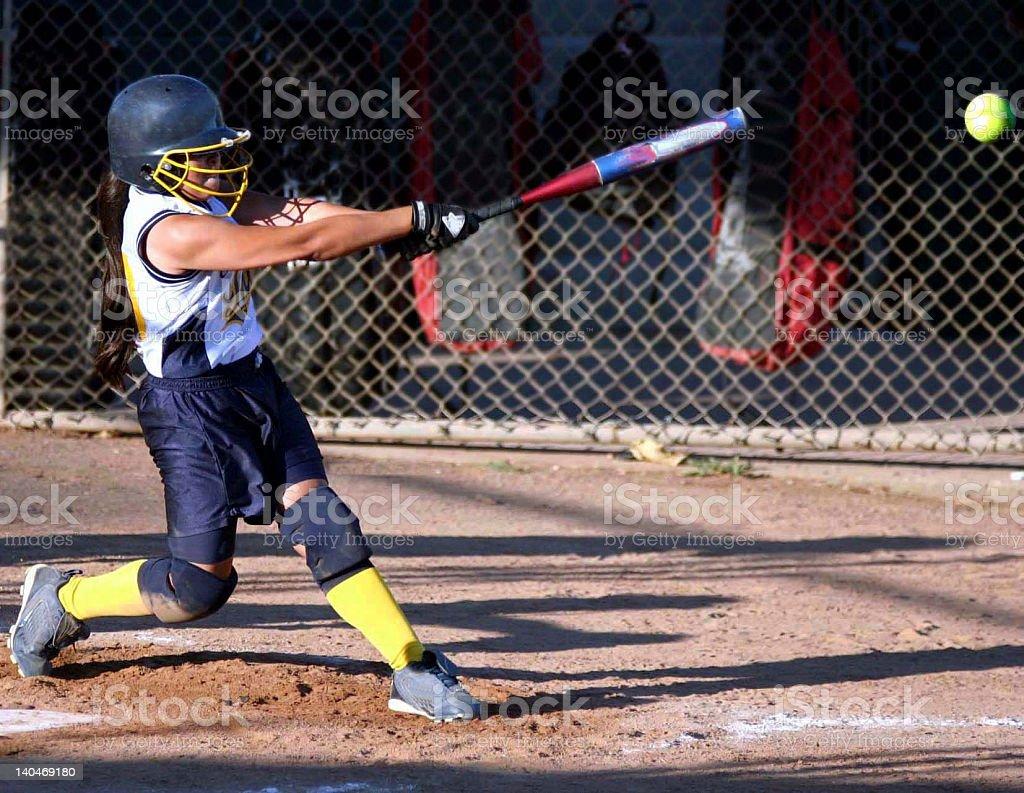Swinging with power stock photo