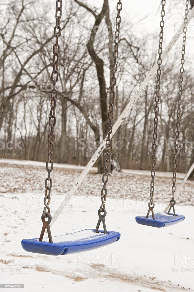 Swings in the Snow royalty-free stock photo