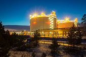 Swinoujscie,Poland,January 2016:LNG terminal in Swinoujscie,Pola