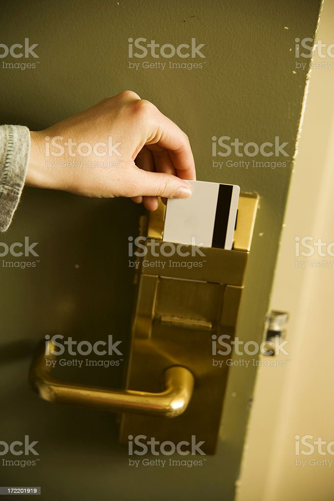 Swipe the Door Key royalty-free stock photo