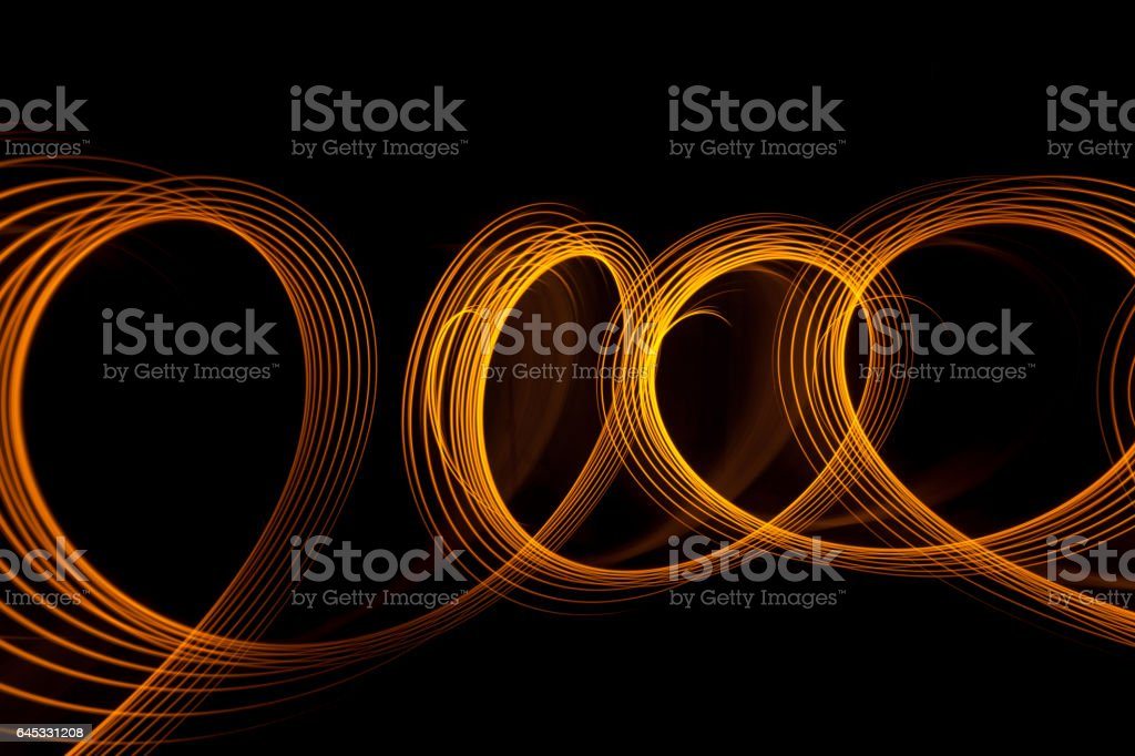 swirl light paint circles stock photo