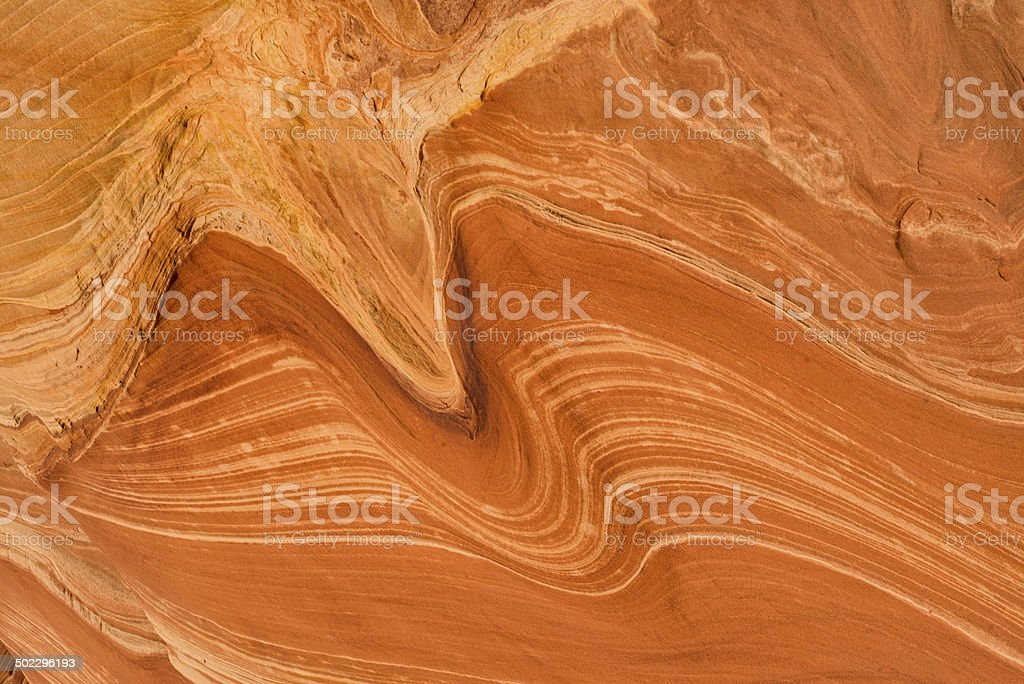 Swirled sandstone stock photo
