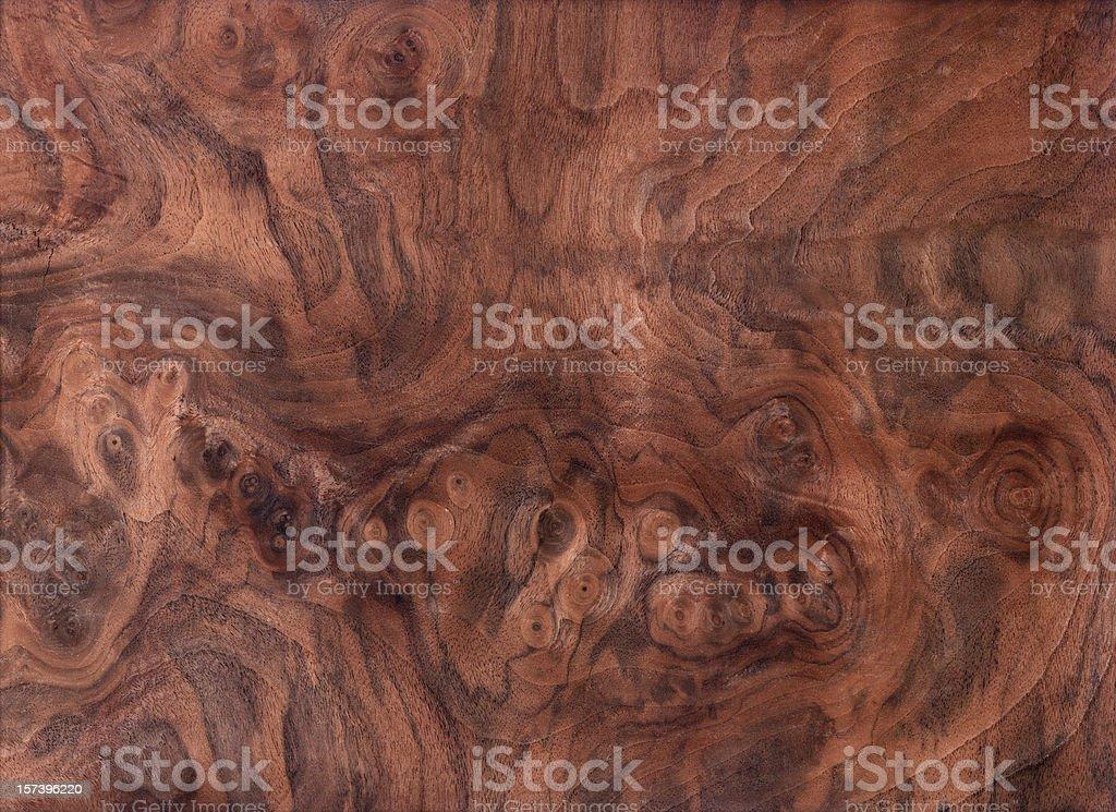Swirling black walnut wood grain background royalty-free stock photo