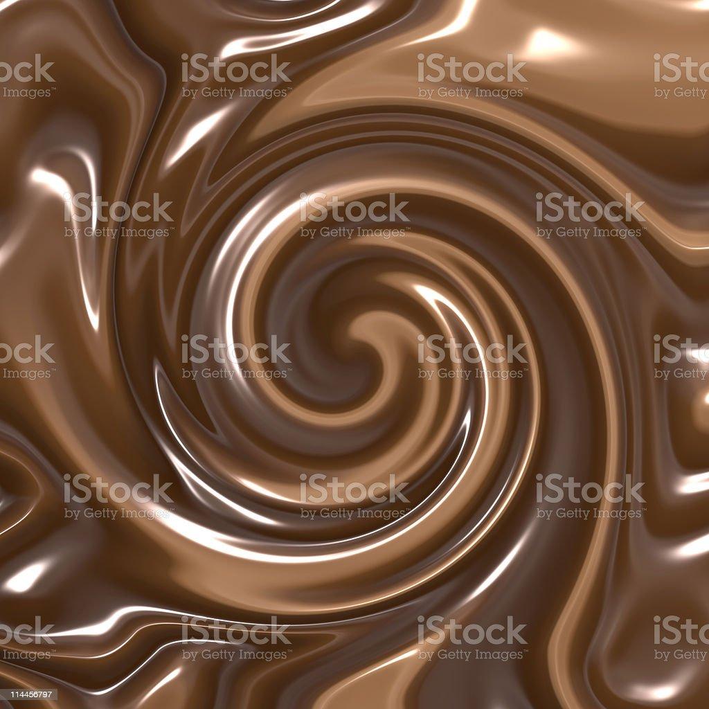 swirling chocolate stock photo