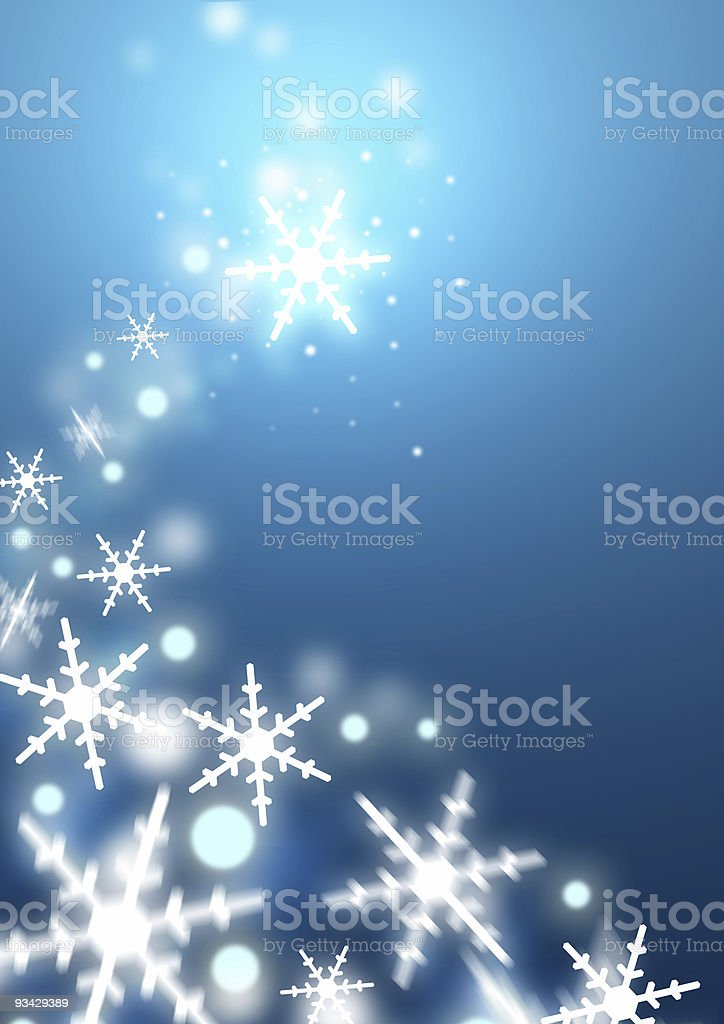 Swirling Snowflakes royalty-free stock photo