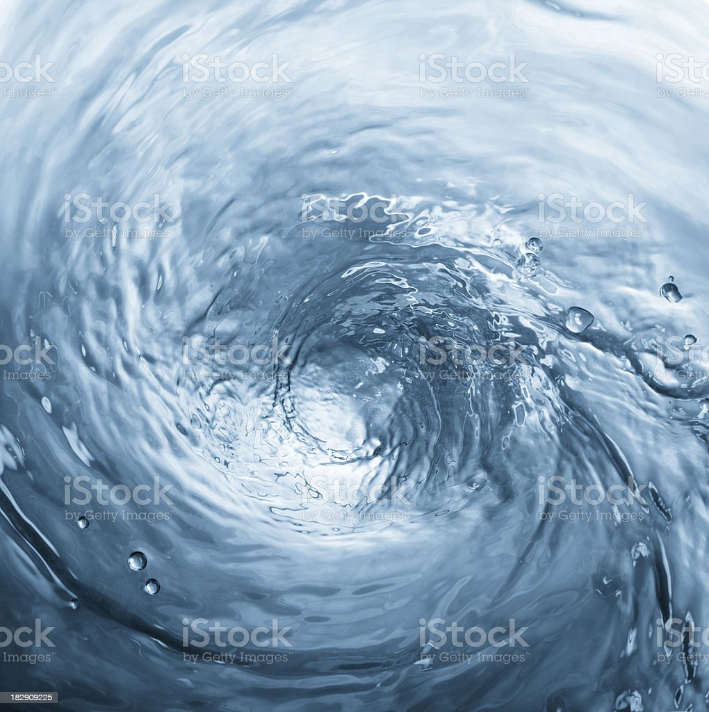 swirling water royalty-free stock photo