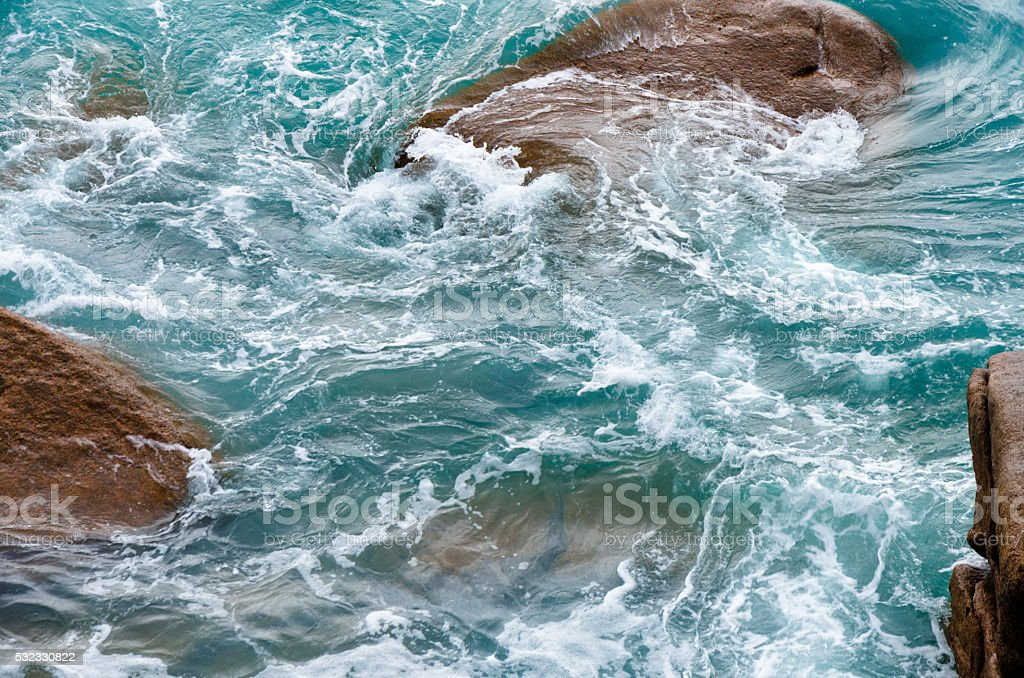 Swirling waters of the sea surface stock photo