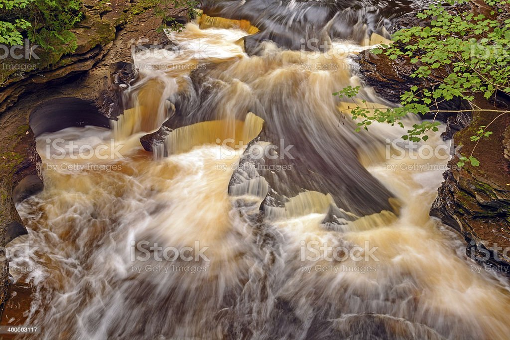 Swirling Waters on a Secluded River stock photo