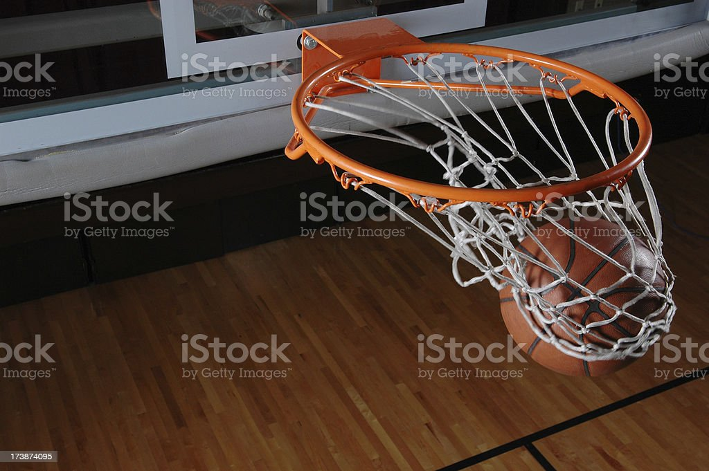 Swish Goes the Ball stock photo